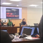 Jaweria as a guest speaker at World Bank