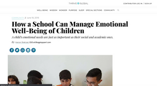 Thrive Global   Can a school manage emotional well-being of children.