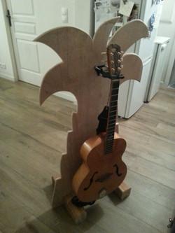 Palmier et guitare