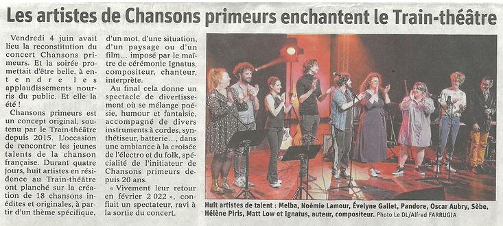 Cabaret chansons primeurs  6 bid Dauphin