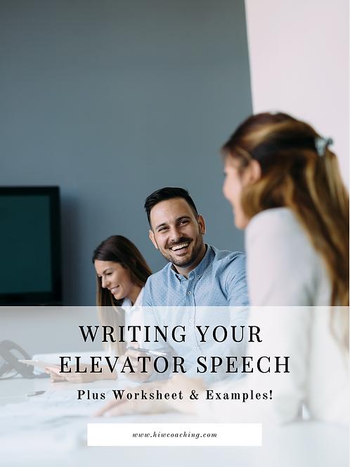 Elevator Pitch Guide