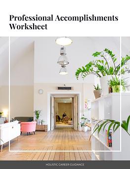 Professional Accomplishments Worksheet.p