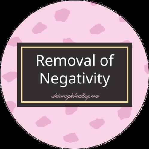 Removal of Negativity