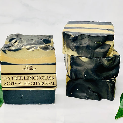 TEA TREE, LEMONGRASS + ACTIVATED CHARCOAL BAR