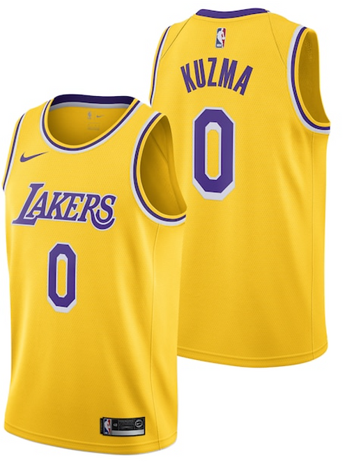 Nike  NBA Jersey Lakers #0 Kyle Kuzma