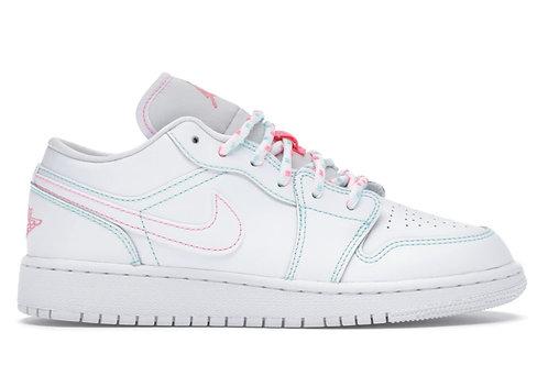 Jordan 1 Low White Green Pink (GS)