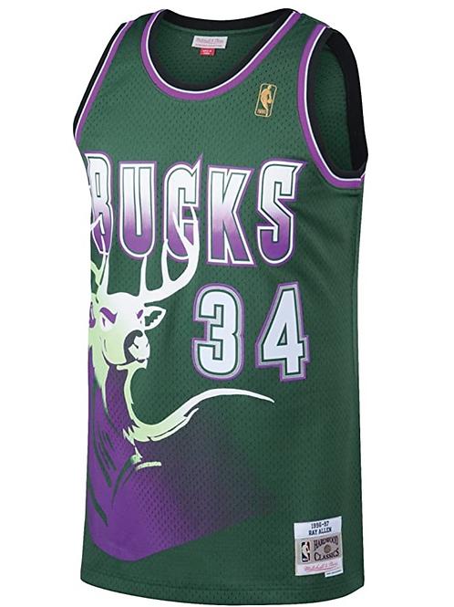 Nike NBA Jersey Bucks #34 Ray Allen