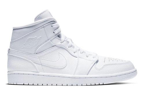 Jordan 1 Mid Triple White (2019)