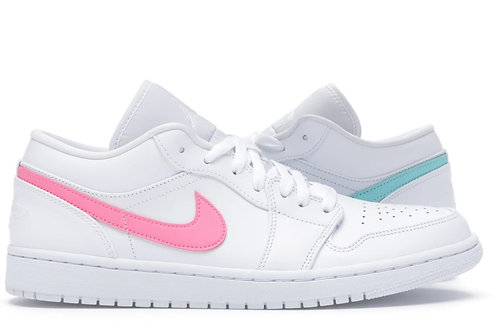 Jordan 1 Low White Multi-Color Swoosh