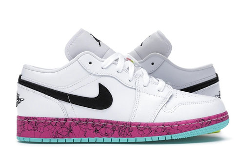 Jordan 1 Low Multi-Color Midsoles White (GS)
