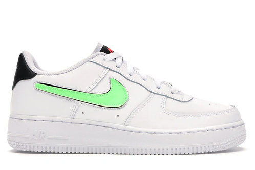Nike Air Force 1 Low Removable Swoosh White Green Strike (GS)