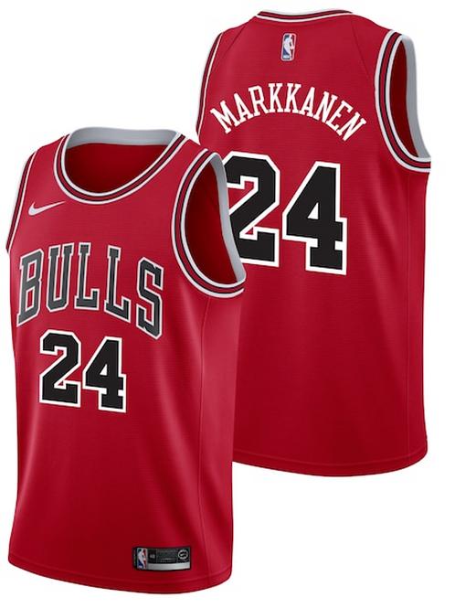 Nike NBA Jersey Chicago Bulls #24 Lauri Markkanen - Icon Edition