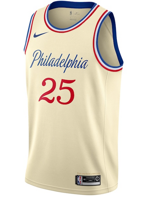 Nike NBA Jersey Philadelphia #25 Ben Simmons