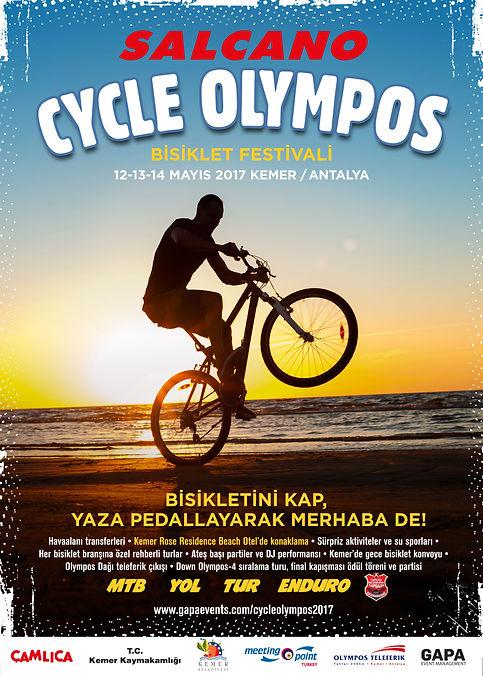 Salcano Cycle Olympos 2017 Poster