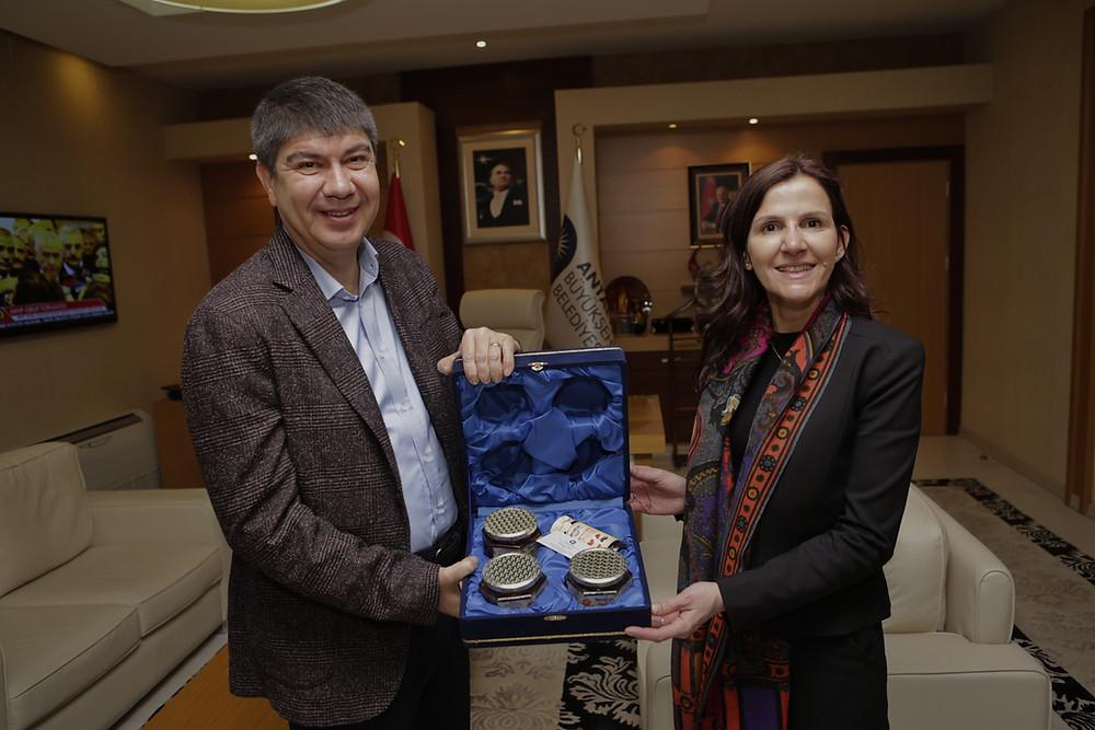 Antalya Büyükşehir Belediye Başkanı Menderes Türel - Meeting Point International CEO Roula Jouny
