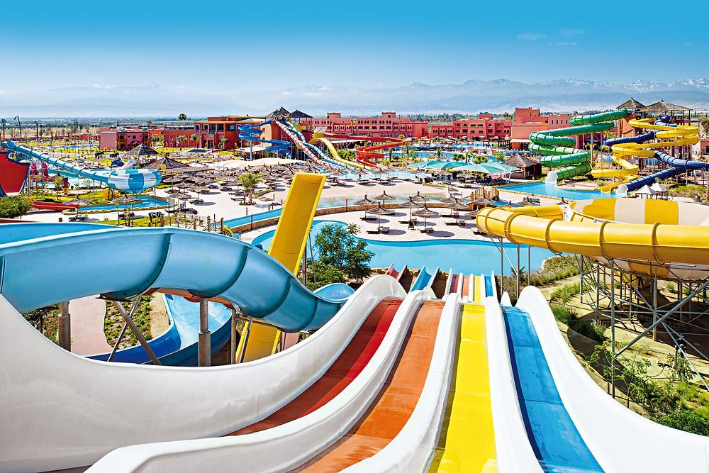Aqua Fun Hotels has 58 Slides  and 16 swimming pools