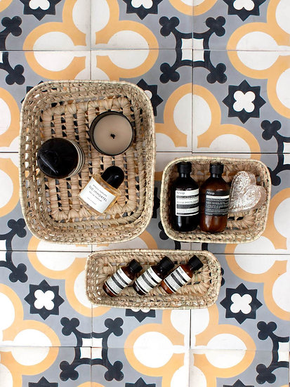 Open Weave Storage Baskets (Set of 3)