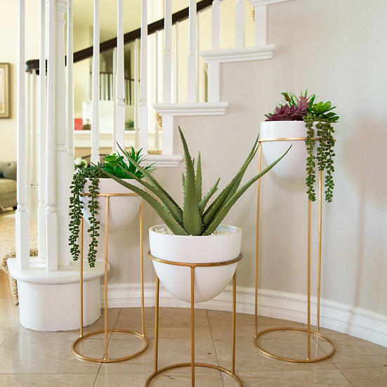Rose Gold Plant Stands