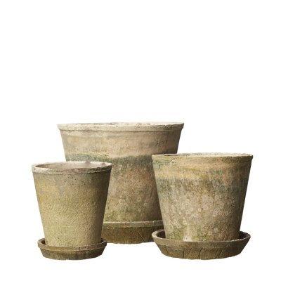 Distressed Pot & Tray