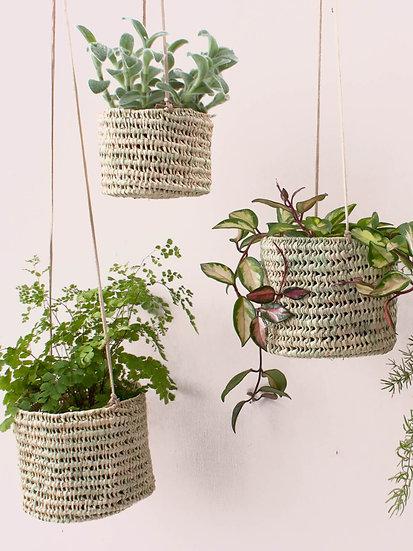 Open Weave Hanging Basket Set of 2