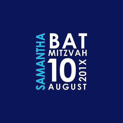 Bat Mitzvah ref 912-16