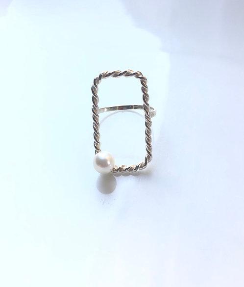 square akoya/リング