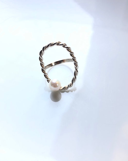 oval akoya/リング