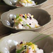 légumes d'été avec au lait de coco