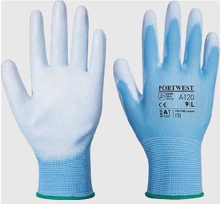Portwest A120 - PU Palm Glove - size 9 (LARGE)