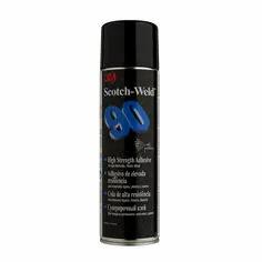 3M Hi-Strength 90 Spray Adhesive, Transparent, 500 ml