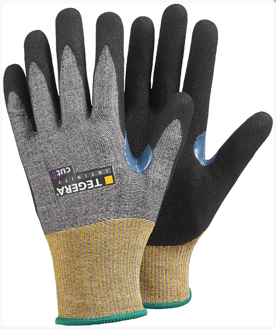 8807 - Size 8 Cut resistant glove, nitrile foam, waterbased PU, palm- dipped
