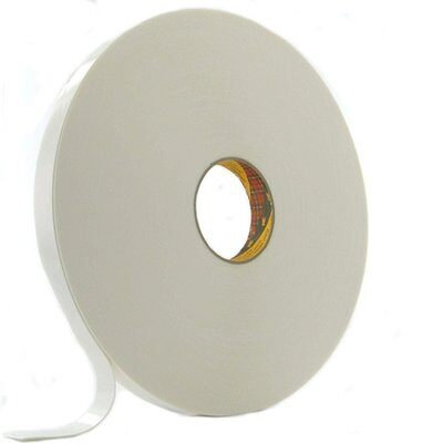 3M Double Sided Synthetic Foam Tape 4430P, 19mm x 66M x 0.8mm white