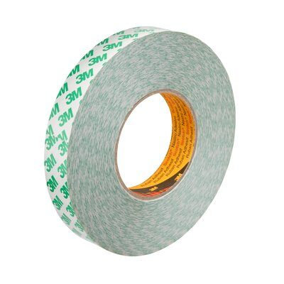 3M 9087 Double Sided PVC Tape, White 12mm x 50M