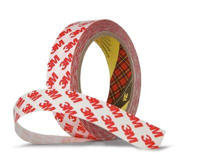 3M Double Sided Polyester Tape 9088-200, Transparent 25mm x 50M