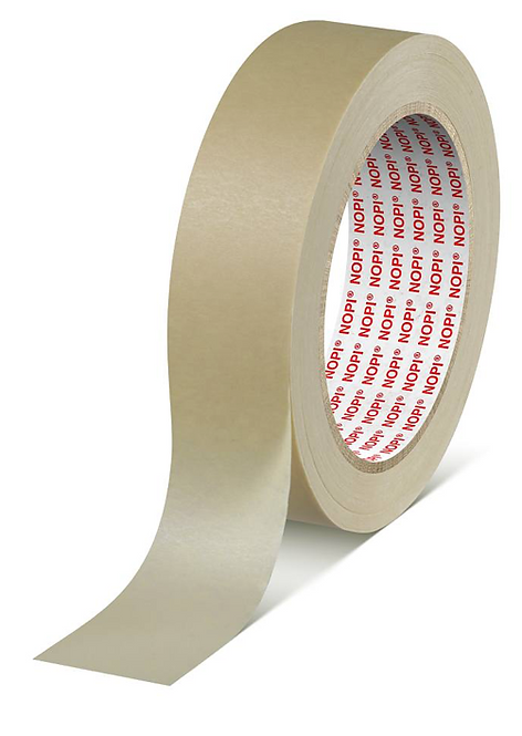 Tesa 4349 NOPI - 50mm x 50m lightly creped general purpose paper tape
