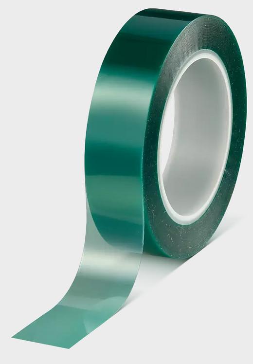 Tesa 50600 50mm x 66m Green polyester masking tape