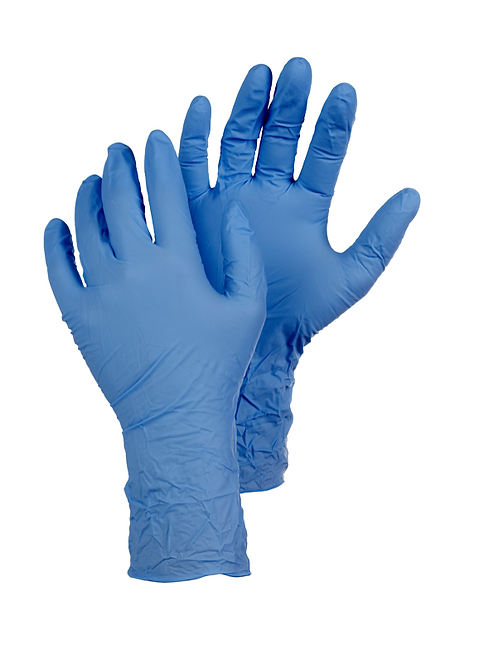 Large -  Disposable glove box off 100, non powder, approved for foodstuffs