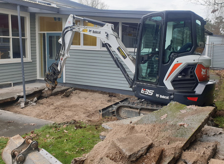 Concrete breaking and Trenching