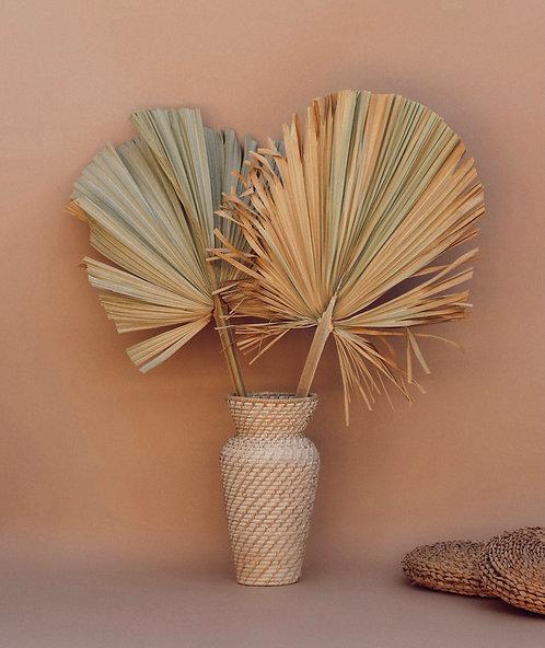 Large Palm Leaf - Tan/Sage Green - 1 Stem