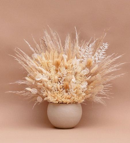Bleach White Dried Arrangement in Vase