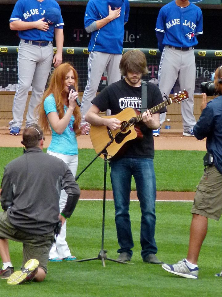 Singing at the Minnesota Twins Game