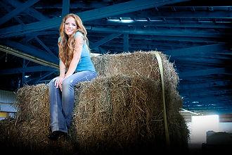 Larissa Promo Shot on a Hay Bail