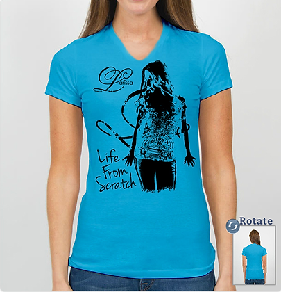 """""""Life From Scratch"""" Fitted Girls Tee"""