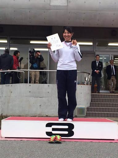 女子シングルスカル 3位入賞の亀井