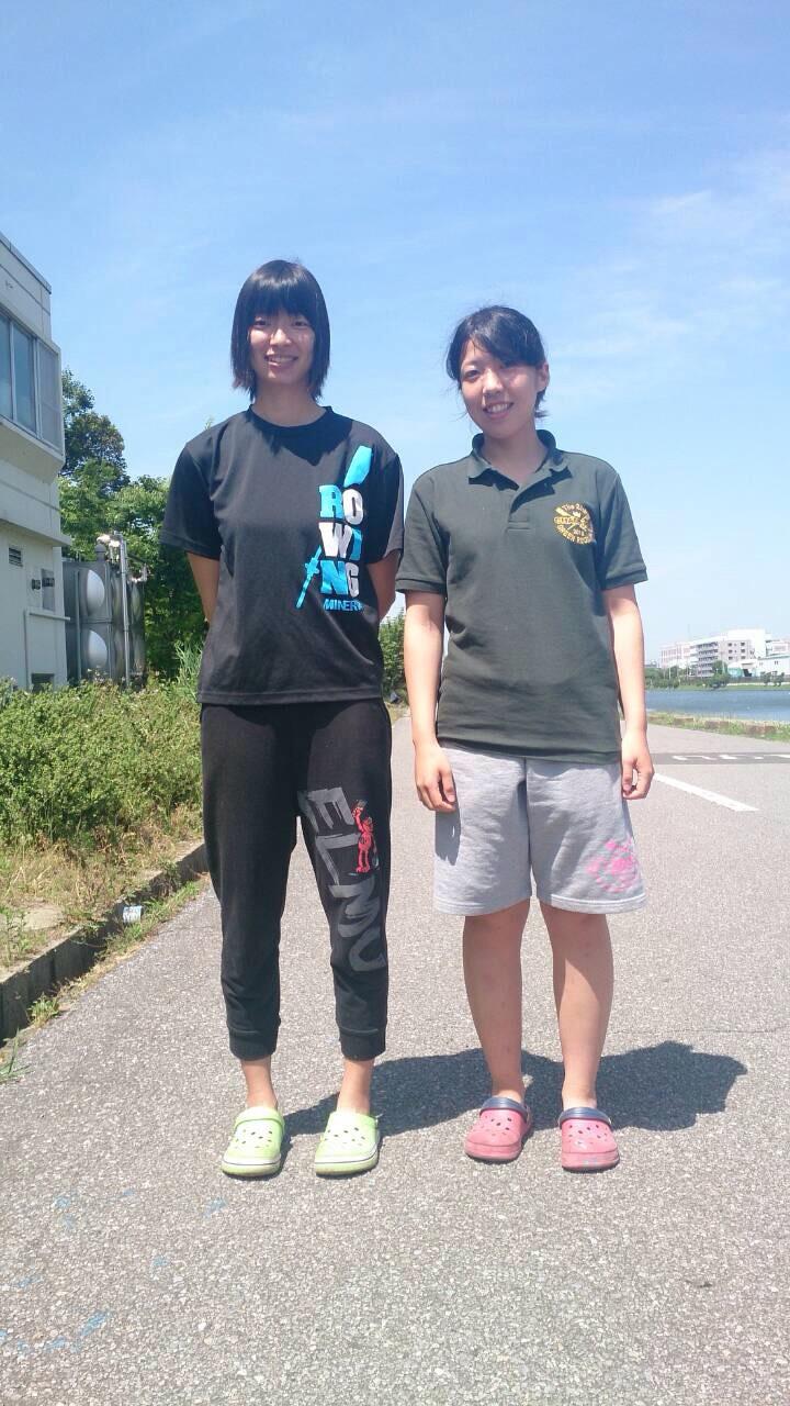 女子シングルスカル 高祖、田崎