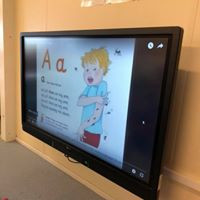 Our new interactive screen!