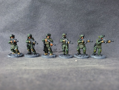 SWAT / SRT (Armed police in tactical armour)-12 Metal Cast