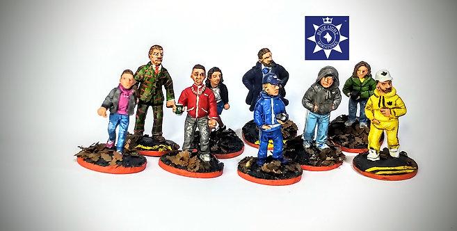 Civilian Group Alpha  (9)(Metal Cast)