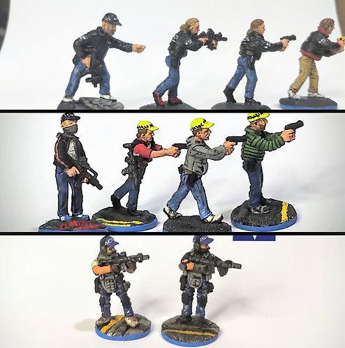 Police Group Bravo  (10)(Metal Cast)