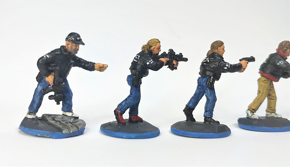 28mm National Crime Agency (NCA) Officers -Agents (Metal cast)